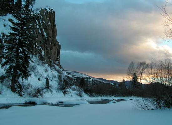 South Fork, CO: Sunset.