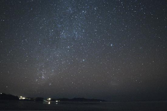Surf Simply: Milky Way over the Playa Guiones, where surfing instruction happens