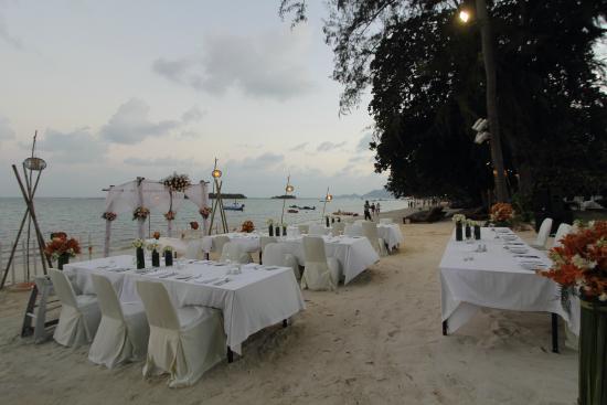Beach Buffet Wedding Reception Picture Of Amari Koh Samui