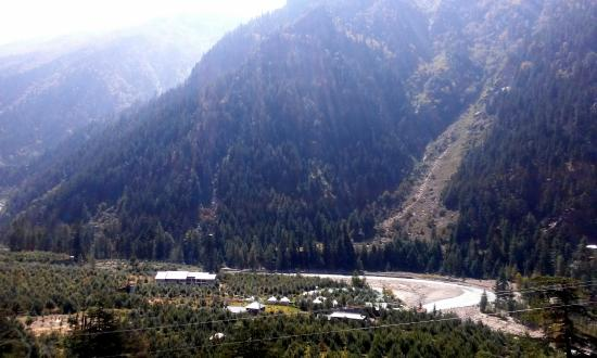 Banjara Camp &  Retreat - Sangla Valley Camp : The Camp in the distance