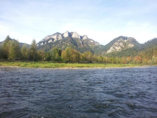 Rafting on Dunajec river: Вид с плота