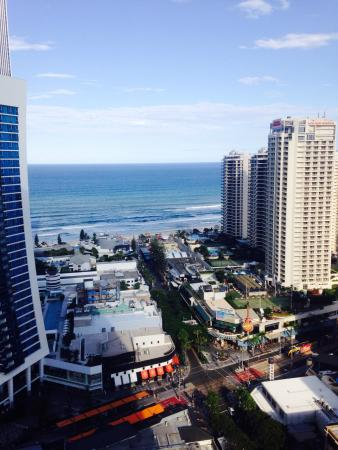 Window View - Mantra Circle on Cavill Surfers Paradise: Cavill mall