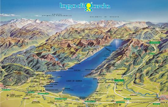 Map Of Lake Garda Garda Lake map   Picture of GardaLanding, Peschiera del Garda  Map Of Lake Garda
