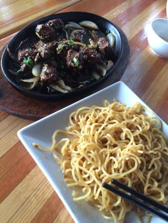 Saigon Kitchen: Shaken beef & garlic noodles, $17 on the specials board
