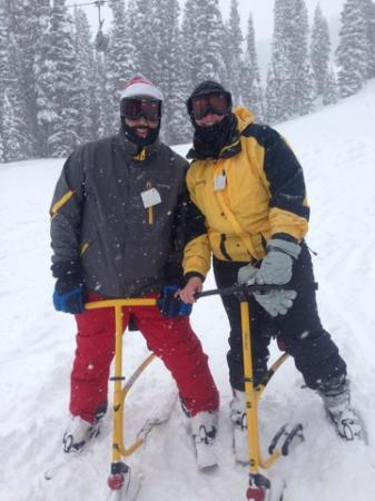 Durango Snowbike Experience: Taking a quick break for a pic.