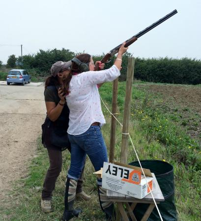 Frock Stock and Barrel Clay Pigeon Shooting School: Coaching the Ladies