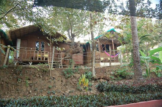 Secret Garden Resort: My hut on the left...