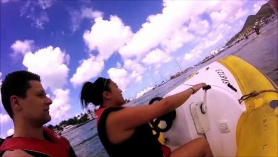 Simpson Bay, St. Maarten/St. Martin: Full speed ahead