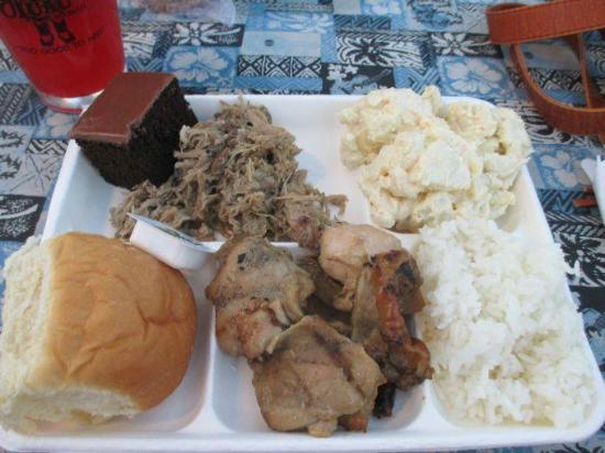 Germaine's Luau: The food
