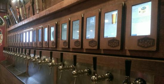 LI Pour House Bar and Grill: 20 tap Self-Service Craft Beer Wall