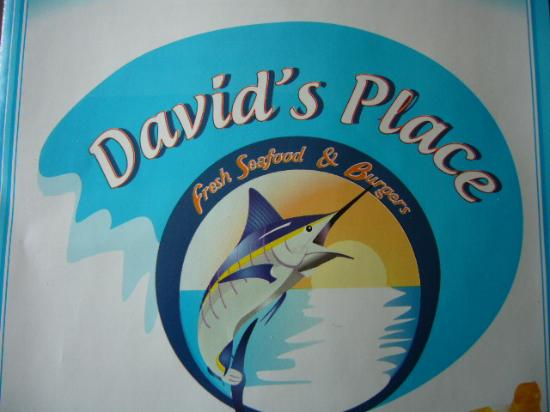 David's Place: Menu cover