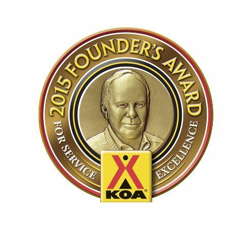 Williamsburg KOA Campground: 2015 Founder's Award