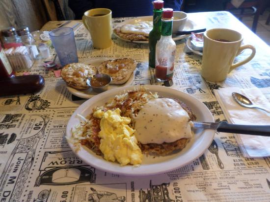 Horseshoe Cafe : too much good stuff!!! Chicken fried steak and eggs!!!!