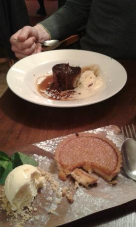 The Three Tuns: Desert. Treacle Tart and Sticky Toffee Pudding