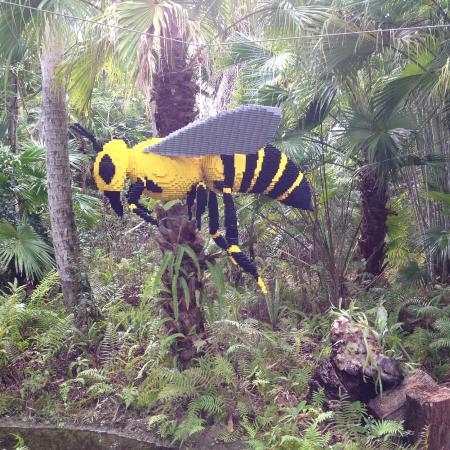 McKee Botanical Garden: Lego Bumble Bee.