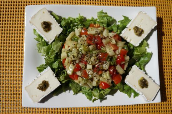 Au Coq du Bonheur: L'un des plats du déjeuner