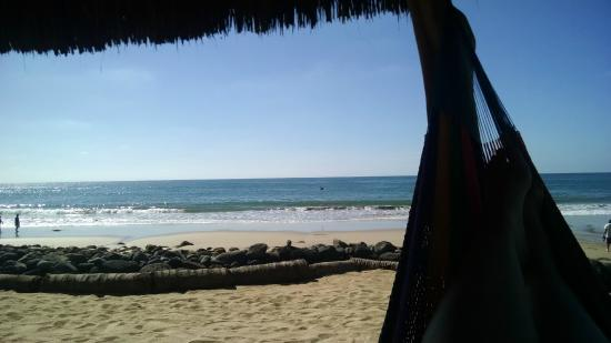 Mar de Jade Retreats Wellness Vacation: Beach from hammock