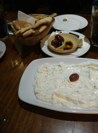 Elia Greek Restaurant: Yogurt dip