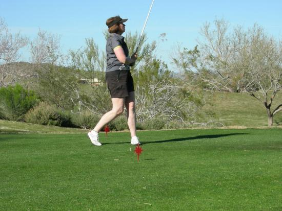 Starr Pass Golf Club: Please, please hit the fairway.