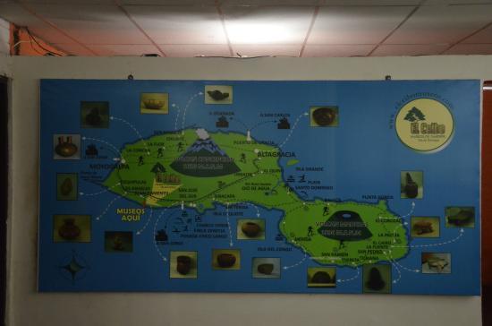 Museum El Ceibo: Mapa museológico