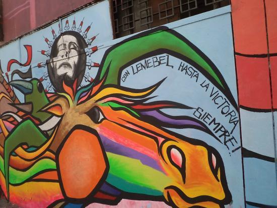 Santiago De Chile Estadio Victor Jara Mural Picture Of Estadio