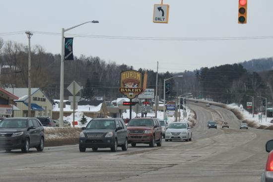 Huron Mountain Bakery: View as I was leaving Marquette on M41/Front street heading south and east,