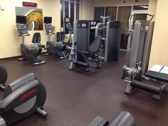 Residence Inn Houston Downtown/Convention Center : Nice gym passing  the pool!