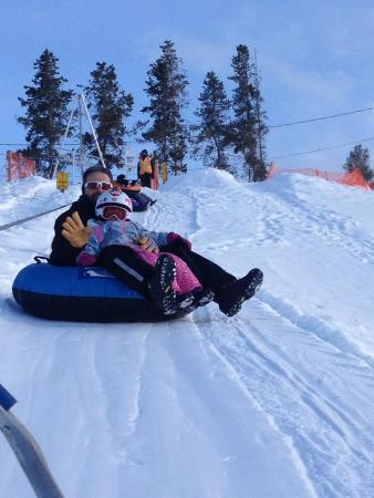 Fraser Tubing Hill: Riding the lift up the hill