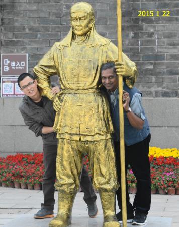 Central Television Nanhai Film Studio: ming bronze statue