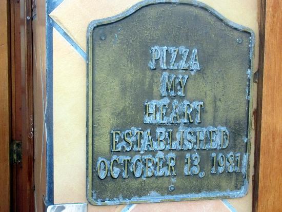 Pizza My Heart Established 1981, Capitola, Ca