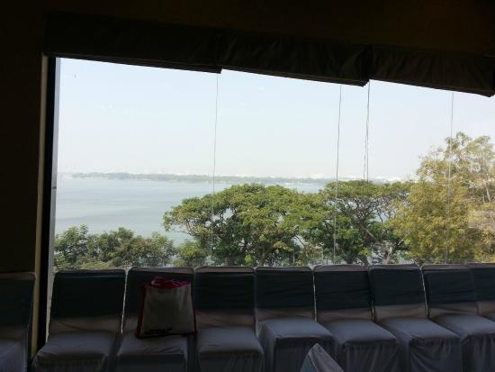 juSTa On Necklace Road, Hyderabad: Lake view from banquet hall