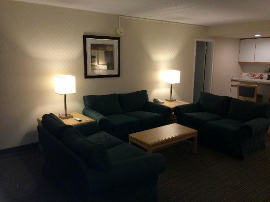 Red Roof Inn & Suites DeKalb: Living Area