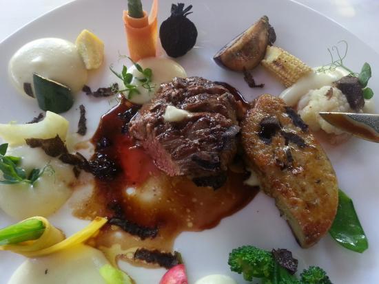 Parkhotel Restaurant: Filet (120g) mit Entenleber (80g !?!?!)