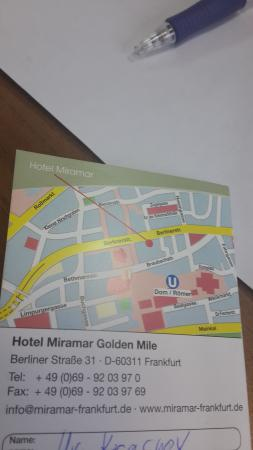 Miramar Hotel: Карта