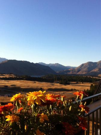 Poppy's Bed & Breakfast: Coucher du soleil avec la Clutha river!