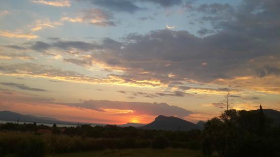 Beautiful sunset viewed from Kassaboera Lodge