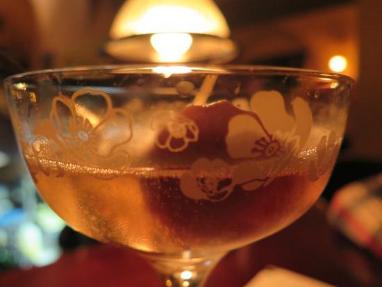 Prague, Czech Republic: champagne and sorbet
