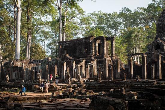 Siem Reap, Cambodia: มุมหนึ่งของปราสาทบายน