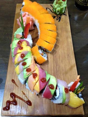 Rainbow + Eel Rolls @ Mi Sushi