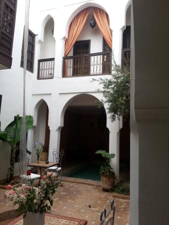 Riad Alwane: cortile interno