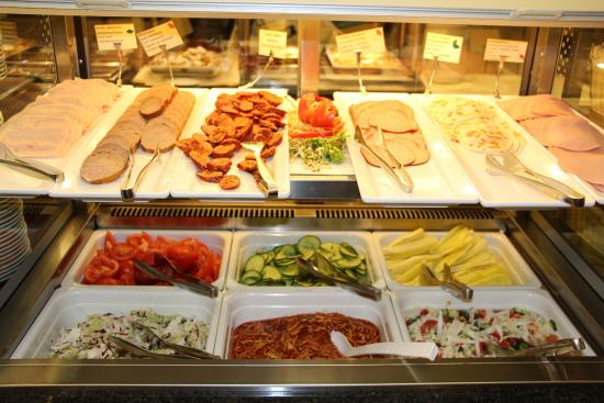 breakfast buffet bakery section picture of hotel