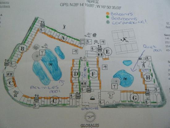 Hotel map picture of globales tamaimo tropical puerto de santiago tripadvisor - Puerto santiago tenerife mapa ...