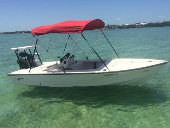 Key Largo Watersports: 16' Hewes Flats Boat