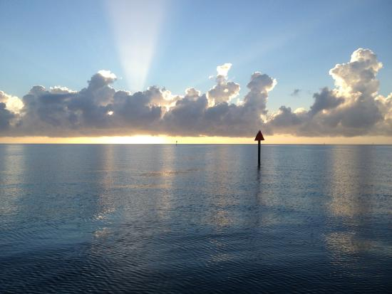 Key Largo Watersports: Lovely Sunrise coming out of the Channel