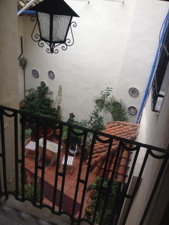 Hostal Osio : Hotel Osio, balcon de notre chambre