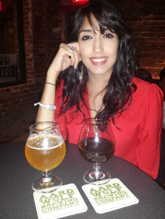 Aardwolf Brewing Company: girlfriend and beer