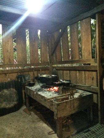 Maroon Creole Drum School: Stove for preparing traditional Creole dishes. Baking too!