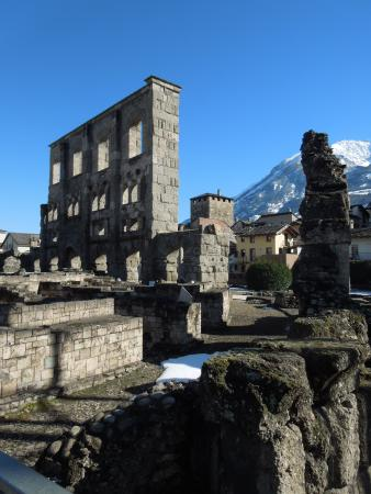 This Roman theatre is 5 minutes walk from the Hotel Turin