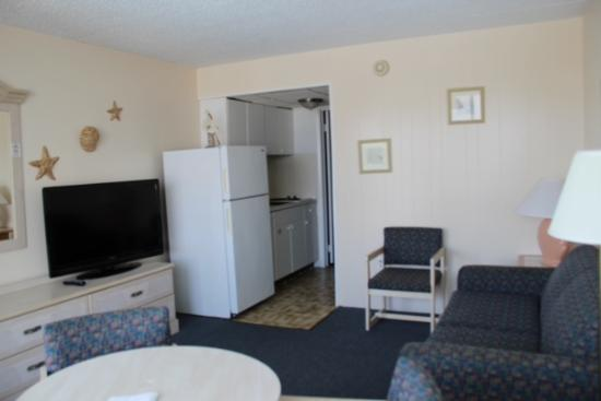 Roman Holiday Motel: Living Room B Unit