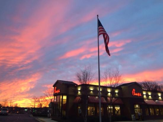 A beautiful sunrise over Chick-fil-A of Warrenton